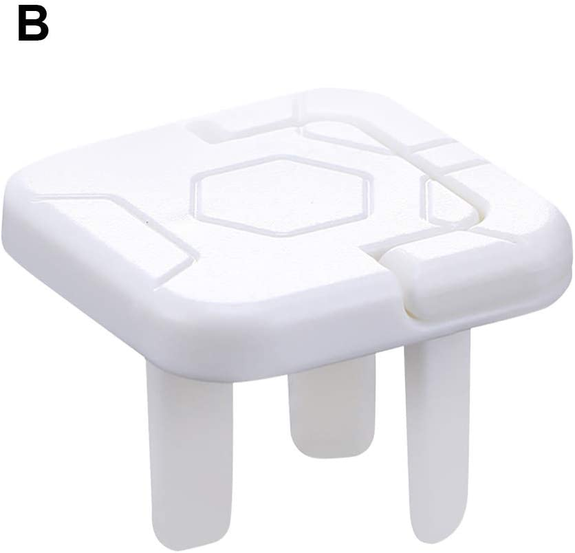N//A Outlet Covers 30//20-Pack Clear Child Proof Electrical Protector Safety Improved Baby Safety Plug Covers 20 pcs B
