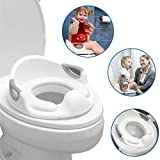 EasyGoProducts Potty Toddler Training Boys and Girls with Cushion Seat Portable Slip and Anti-Splash Features Toilet Trainer, White