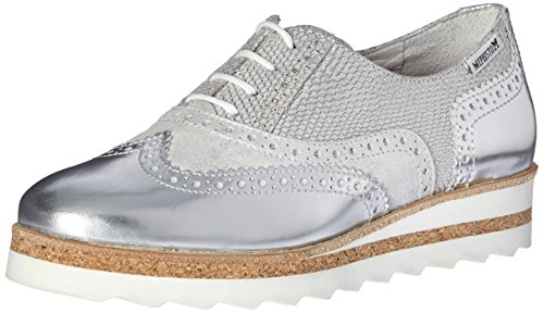 Mephisto Women's Tomasia Oxford, Silver Python White Magic, 11 M US