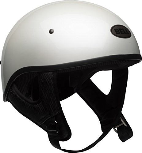 White Helmet Sports Bell Face (Bell Pit Boss Sport Open-Face Motorcycle Helmet (Solid Gloss White, Large))