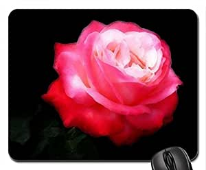 Reddish Pink Rose Mouse Pad, Mousepad (Flowers Mouse Pad, Watercolor style) by mcsharks