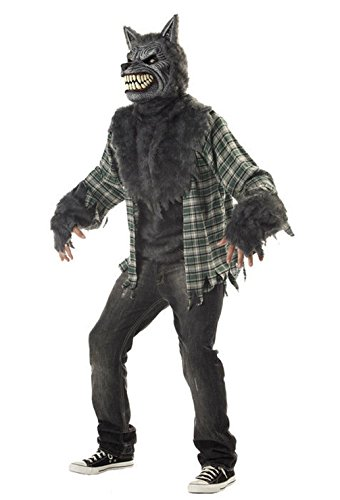 [Mememall Fashion Big Bad Wolf Full Moon Madness Adult Costume] (Snl Bad Halloween Costumes)