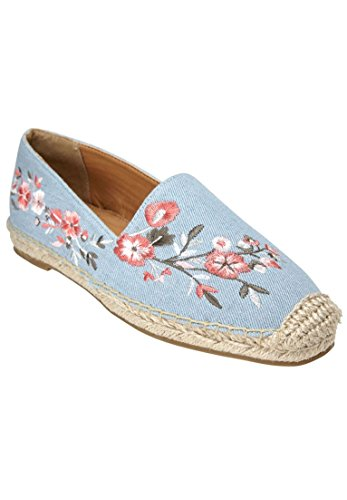 Comfortview Womens Wide Amrisa Flats Light Denim