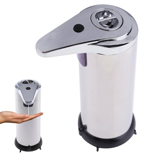 whitelotous-250ml-stainless-steel-automatic-sensor-infrared-handfree-sanitizer-soap-dispenser