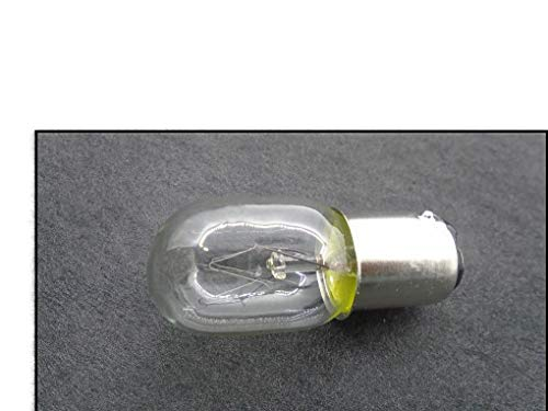 NGOSEW Short Glass Light Bulb, 15W Bayonet Base, Push in & Twist, 2 Posts on Bottom of Bulb for Kenmore