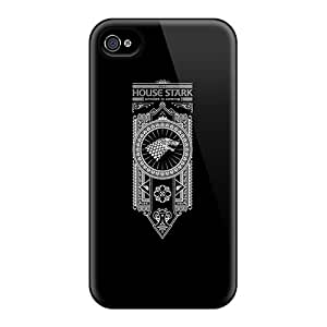 Bumper Hard Phone Covers For Iphone 4/4s (XXz11938oJWj) Customized Fashion House Stark Skin