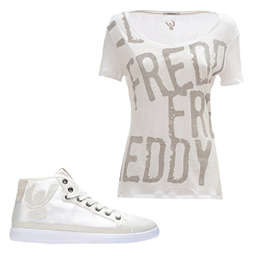 T s5wfst2wt Rialzo Freddy Con Sneaker Bianco Omaggio Interno 3cm In shirt Di x76pFOw6