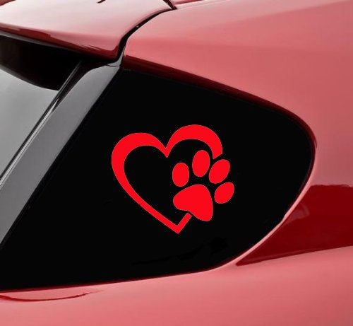 heart car window decals - 6
