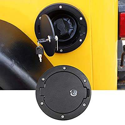 Locking TJ Gas Cap Cover Fuel Door for 1997-2006 Jeep Wrangler TJ: Automotive