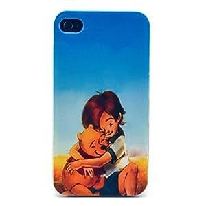 TY- Boy y patrón del oso de la historieta Caso duro para el iPhone 4/4S