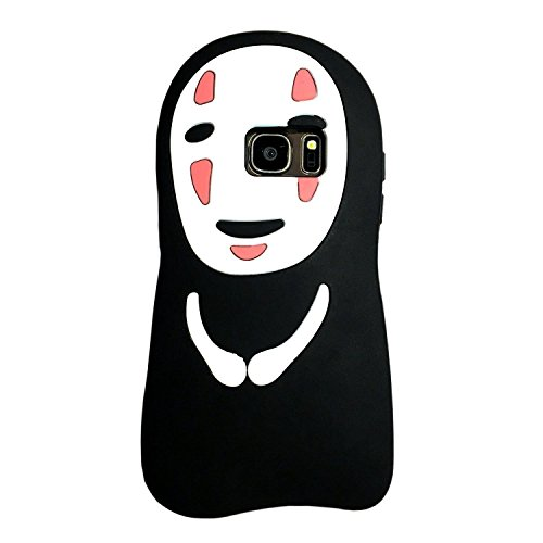 Galaxy S7 Case, MC Fashion Cute 3D American Cartoon Characters Protective Silicone Phone Case for Samsung Galaxy S7 (No-Face Kaonashi)