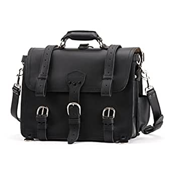 Saddleback Leather Company Large, Black Classic Briefcase, 100% Full Grain Leather with 100 Year Warranty