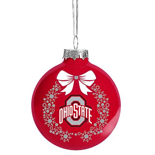 FOCO NCAA Wreath Glass Ball Christmas Tree Ornament-2 5/8