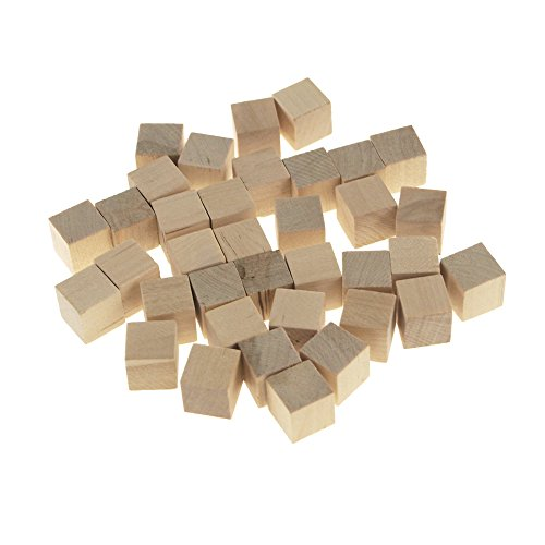 Homeford Wooden Cube Blocks, Natural, 5/8-Inch, 36-Count ()