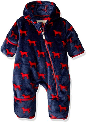 - Hatley Baby Boys Fuzzy Fleece Bundlers, red Labs, 6-9 Months