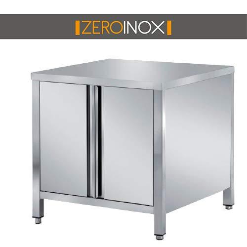 ZeroInox Mesa armadiato con Puertas de Acero Inoxidable ...