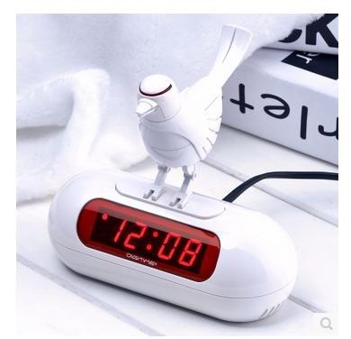 pengweiLED digital despertador idea pájaro despertador Reloj digital silencio niños dibujos animados de luz de la