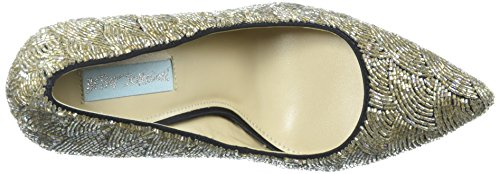 Blu By Betsey Johnson Womens Pompa Sb-clair Nero Satinato
