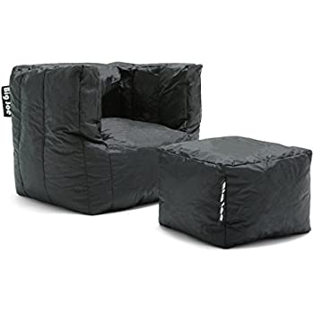 Big Joe Cube Stretch Limo Smartmax With Ottoman Black
