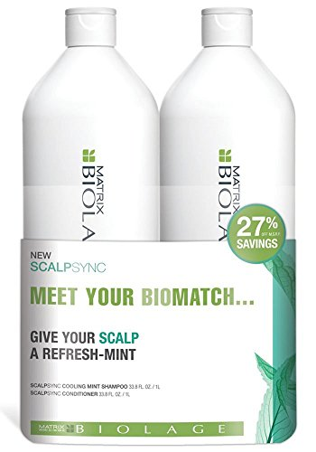 Matrix Biolage Scalpsync Shampoo and Conditioner Liter Duo