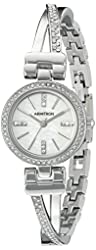 Armitron Women's 75/5351MPSV Swarovski Crystal Accented Silver-Tone Bangle Watch