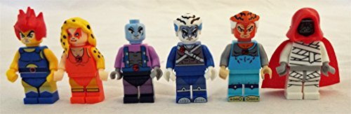 Thundercats Set of 6 Mini Figures Fit All Lego Playsets w/ Lion-O, Cheetara, Panthro, Tygra, Pumyra and Mumm-Ra