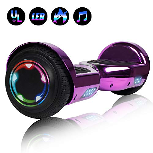 Felimoda 6.5 Inch Hoverboard LED Wheels Lights self Balancing Scooter Dual Motors UL Certified Hover...