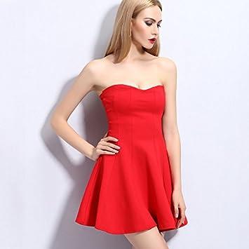 Pligh(TM) SML vestido de verano rojo negro de 2016 nuevas mujeres ocasionales del