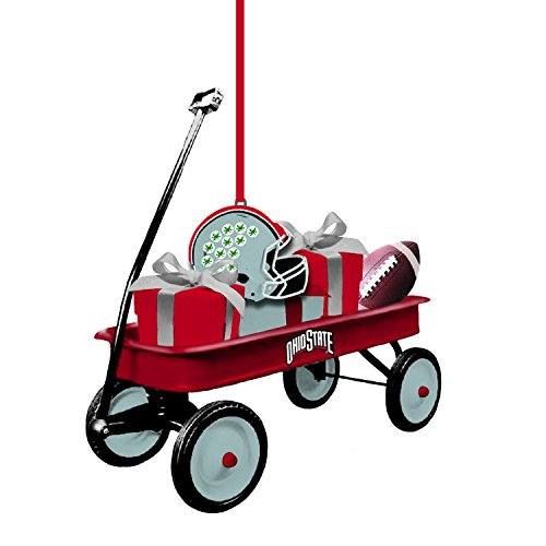 Ncaa Ornaments (Team Sports America Ohio State University Team Wagon Ornament)