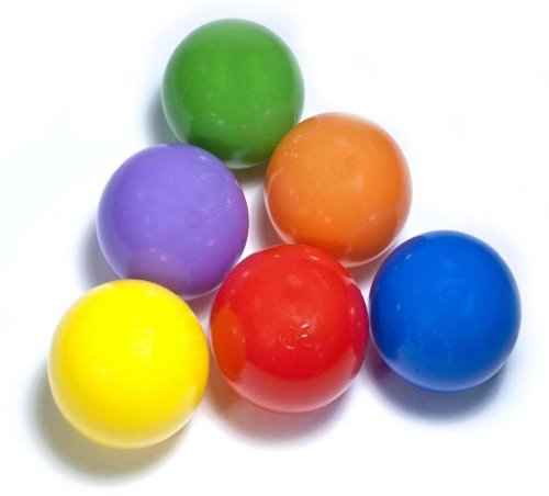 "200 ""Phthalate Free"" 6.5cm Pit Balls w/ Mesh Bag: 6 Colors - Red, Orange, Yellow, Green, Blue, and Purple"