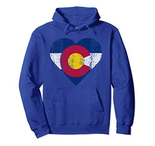 Unisex Colorado Hoodie Flag Heart Mother's Day Birthday Womens GIFT Medium Royal Blue
