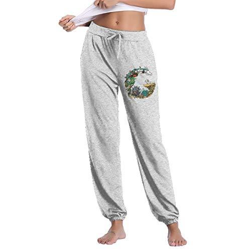 Studio Ghibli Anime Art Women's Skim Fit Long Pant Gray