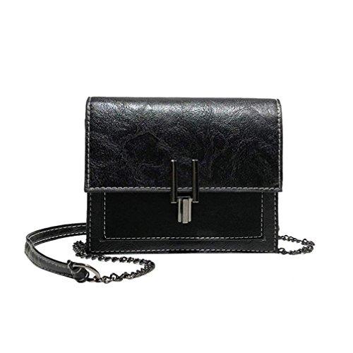 Sale Clearance Women Handbags Halijack Ladies Vintage Patchwork Flap Bag PU Leather Shoulder Bag College Girl Casual Mini Cellphone Wallet Purse Small Messenger Bag Crossbody Bag Black