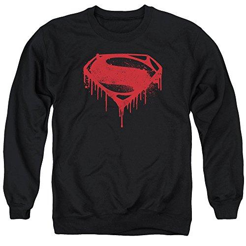 Batman v Superman Splattered Black Unisex Adult Crewneck Sweatshirt For Men and Women