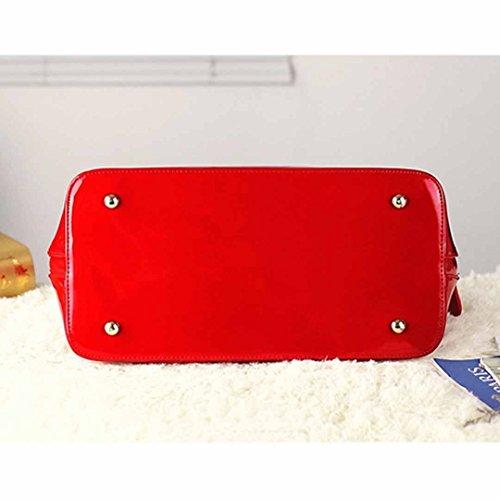 Patent Handbags Leather Red New Bag Meliya Shape Satchel Zip Dome Shoulder Shell Around Fashion Bag 082 Ladies Portable Messenger Hv5vwqz