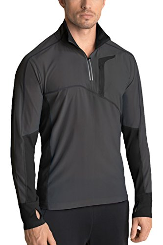 MPG Men's Contra Run Pullover 2XL Asphalt/Black