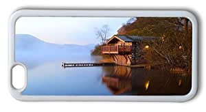 Durable iPhone 6 Plus Case Cover, Stone Boat House Case for iPhone 6 Plus 5.5inch - TPU White