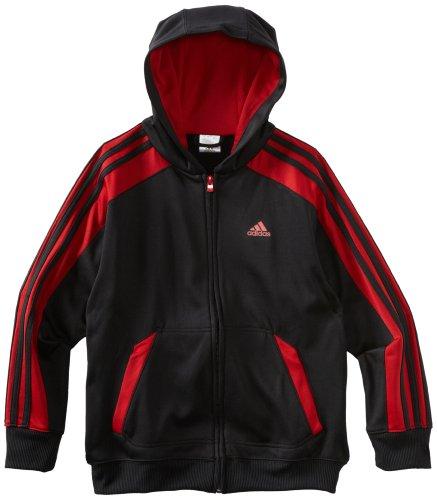 red and black adidas hoodie