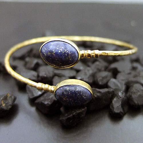 Ancient Design Handmade Designer Oval Lapis Chain Bracelet -