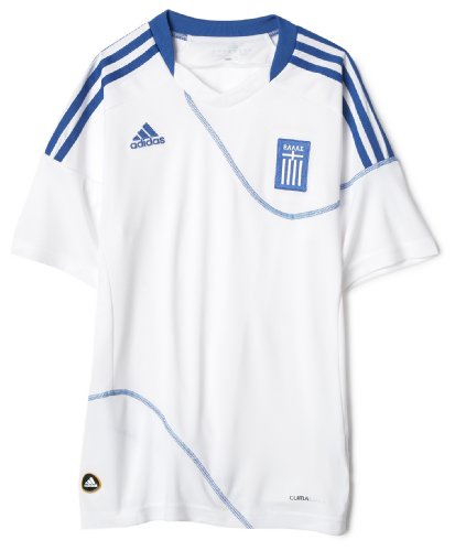 Greece Home Youth Jersey White, Large