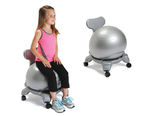 Exercise Low Back Kids Novelty Chair Upholstery: Gray by Aeromat