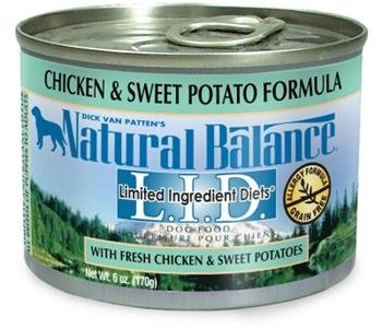 Natural Balance L.I.D. Canned Dog Food Chicken and Sweet Potato 6 oz Review