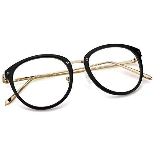 986ea5bc59 Mimoeye Blue Light Filter Computer Glasses Chic Round Eyeglasses Frames for  Unisex