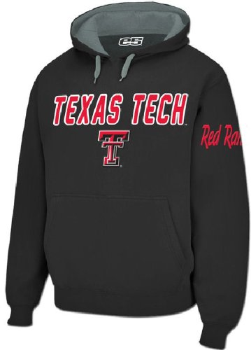 (Texas Tech Red Raiders Mens Black Embroidered Combo Hooded Sweatshirt (XL=48))