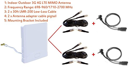 3G 4G LTE Indoor Outdoor wide band MIMO Antenna for Verizon jetpack mifi 7730L Novatel Mobile Hotspot by maxmostcom