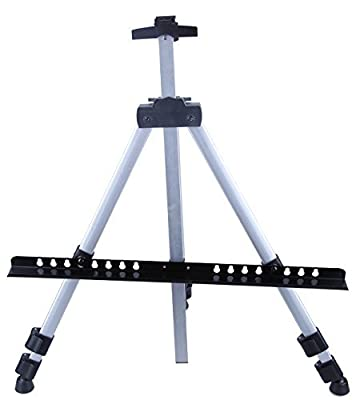 Art Easel - Aluminum Metal Adjustable Easel Stand - For Oil, Acrylic, & Watercolor Painting - 66.5 Inches