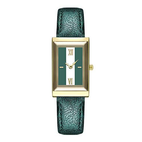 2019 Spring Deals! Women's Girls Fashion Watch Leather Strap Analog Quartz Glass Mirror Watches
