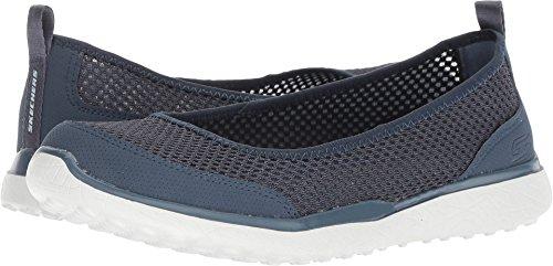 Ballet Skimmers - Skechers Microburst Sudden Look Womens Slip On Skimmer Sneakers Slate 10