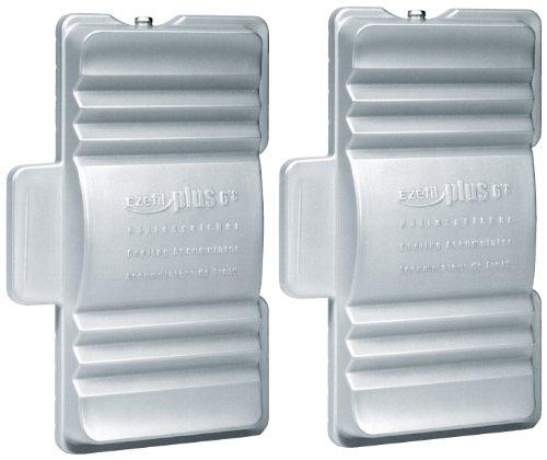 Ezetil EZC Plus 6°C Kühlakku 2 x 600g, Silber