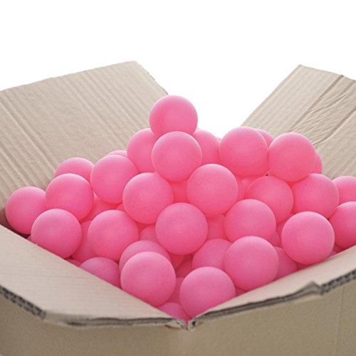GOGO 150PCS Beer Ping Pong Balls, 40mm Neon Pink Table Tennis Balls